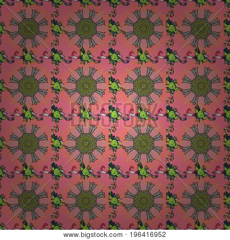 Seamless pattern with abstract ornament. Vector Hand drawn zentangle floral background.