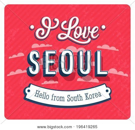 Vintage Greeting Card From Seoul - South Korea.