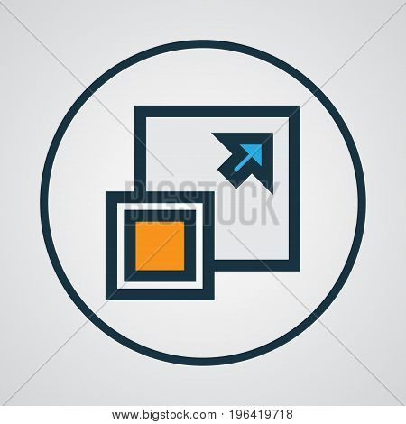 Enlarge Colorful Outline Symbol. Premium Quality Isolated Maximize Element In Trendy Style.
