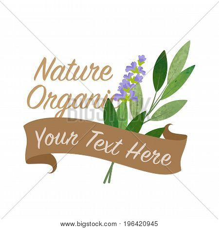 Colorful Watercolor Texture Vector Nature Organic Vegetable Banner Sage