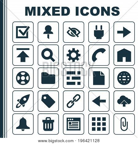 Interface Icons Set. Collection Of Load, Siren, Ahead And Other Elements