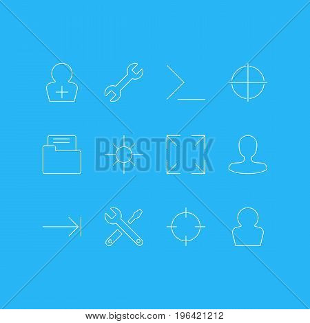 Editable Pack Of Maintenance, Man Member, Avatar And Other Elements. Vector Illustration Of 12 UI Icons.