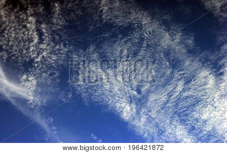 image of many cloud on blue sky