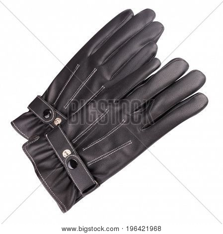 image of two Leather Gloves Isolated on white background