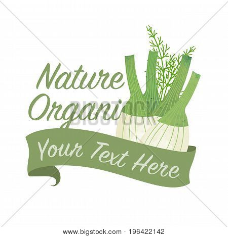 Colorful Watercolor Texture Vector Nature Organic Vegetable Banner Fennel Bulb