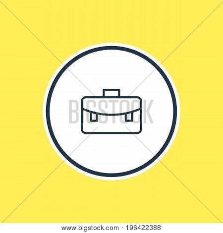 Vector Illustration Of Briefcase Outline. Beautiful Studies Element Also Can Be Used As Portfolio  Element.