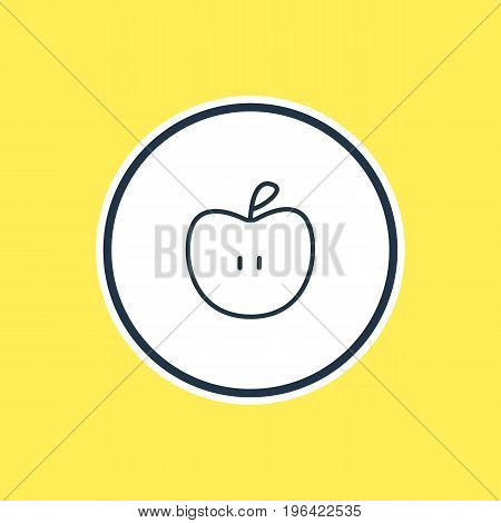 Vector Illustration Of Apple Outline. Beautiful Science Element Also Can Be Used As Fruit Element.