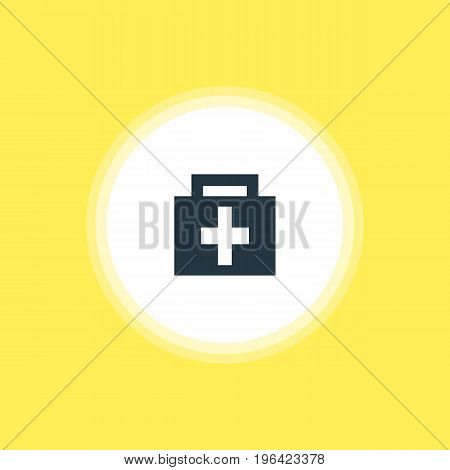 Beautiful Check-In Element Also Can Be Used As Drugstore Element. Vector Illustration Of Pharmacy Icon.
