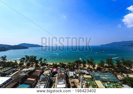 Patong Panorama With Sea At Phuket, Thailand