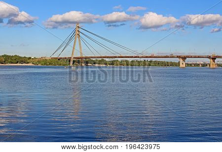 Fux bridge (former Moskovskyi Bridge) in Kyiv, Ukraine