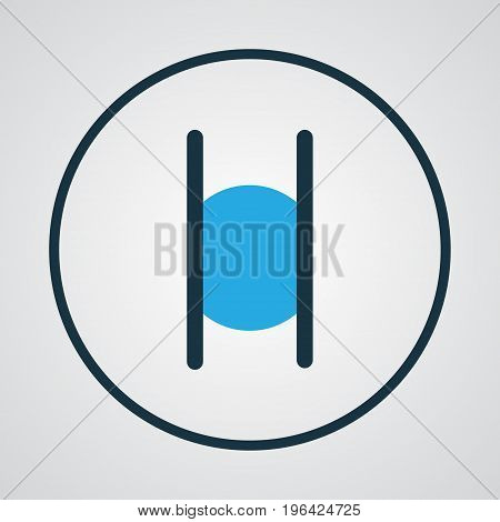 Premium Quality Isolated Stop Element In Trendy Style. Pause Colorful Outline Symbol.