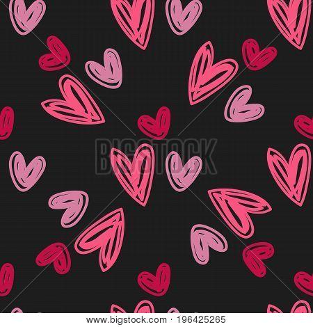 Heart pattern. Valentine's Day seamless pattern. Vector stock.
