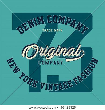 graphic design denim company original for shirt and print