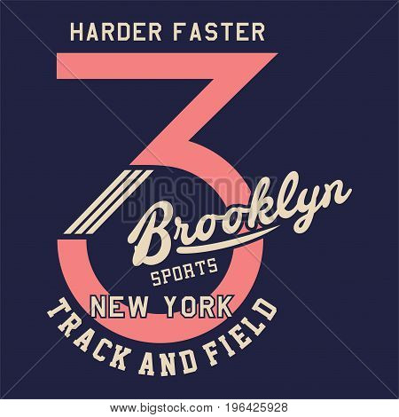 graphic design harder faster brooklyn for shirt and print