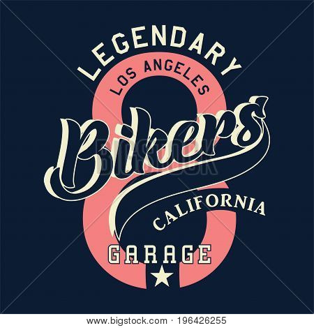 graphic design legendary los angeles bikers california for shirt and print