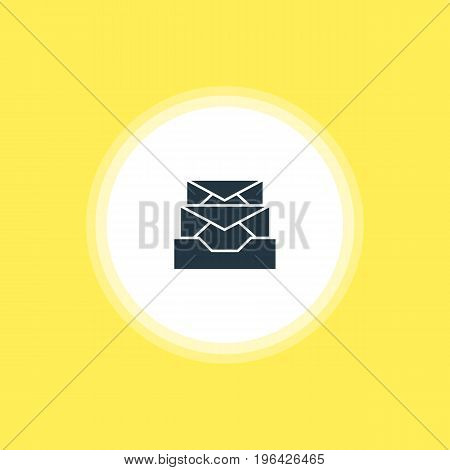 Beautiful Web Element Also Can Be Used As Messages Element. Vector Illustration Of Inbox Icon.