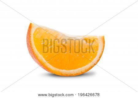 Orange on a white background. Orange slice on a white background
