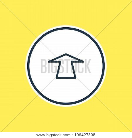 Vector Illustration Of Push Outline. Beautiful Storage Element Also Can Be Used As Upward Element.