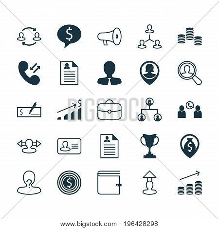 Human Icons Set. Collection Of Coin, Payment, Personal Badge And Other Elements