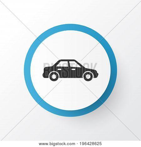 Sedan Icon Symbol. Premium Quality Isolated Automobile Element In Trendy Style.