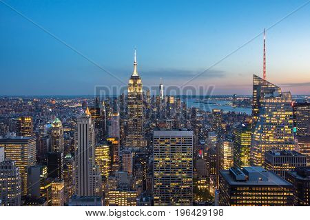 Empire State Building Isnyc Aerial View
