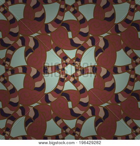 Rich ethnic striped seamless pattern geometric design. Colored mandala on colorful background. Vector illustration. Mandala style.