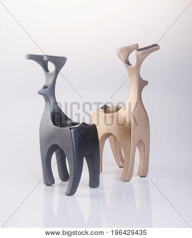 Deer Decoration Or Reindeer Decoration On A Background.