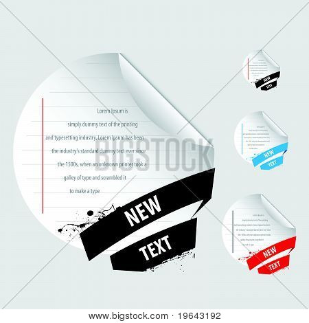 curl and circle notepad stickers