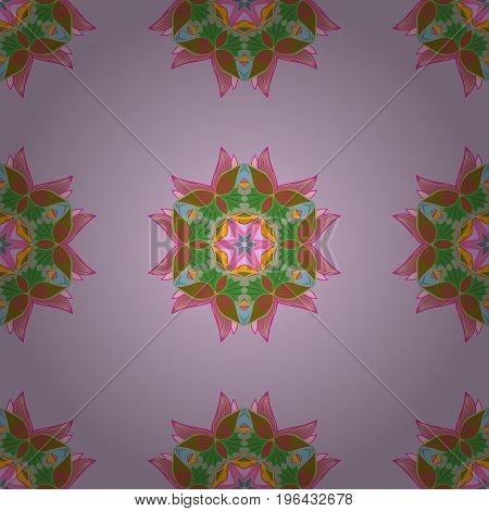 Abstract Mandala on a colorful background. Vector illustration.