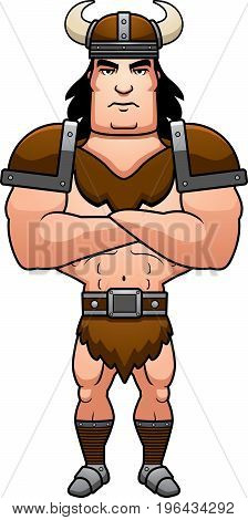 Cartoon Barbarian Arms Crossed