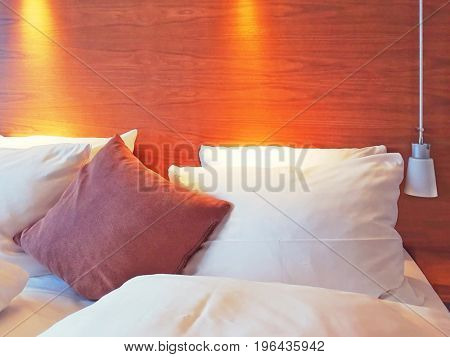 old fashioned room with many pillows