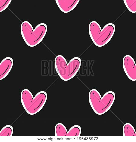 Heart cute pattern. Valentine's Day seamless pattern. Vector stock.