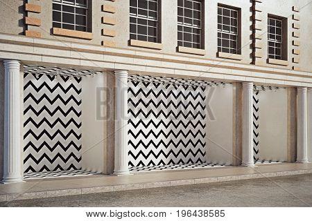 Blank Zigzag Storefront Side