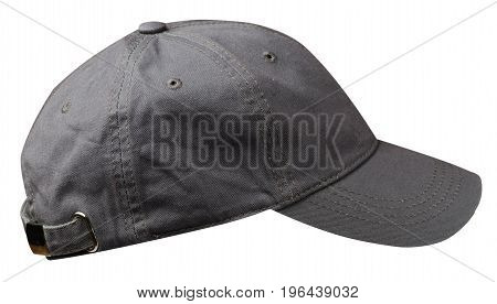 Hat Isolated On White Background. Hat With A Visor