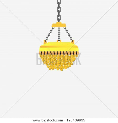 Gold Coins Vector Stock Illustration