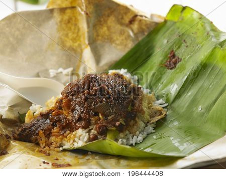open package hawker food nasi lemak