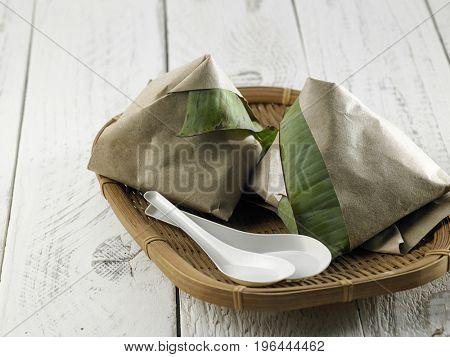 malay food nasi lemak with spoon