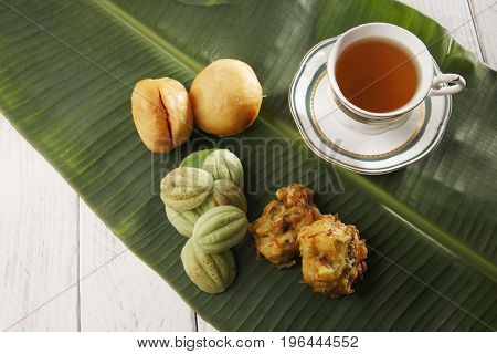Top view malaysia traditional food waiting to buka puasa
