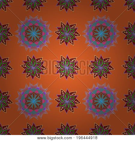 Vector ethnic mandalas doodle background circles. Background.