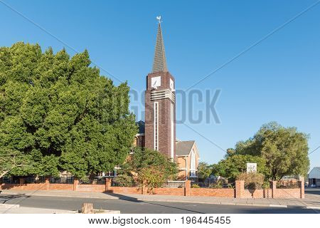 KEETMANSHOOP NAMIBIA - JUNE 13 2017: The Dutch Reformed Church in Keetmanshoop the capital town of the Karas Region of Namibia