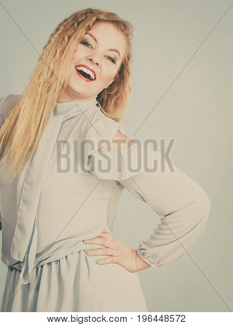 Happy Positive Smiling Blonde Woman