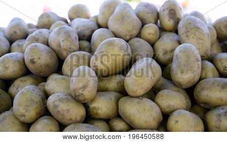 Potatoes Raw Vegetables Food In Market