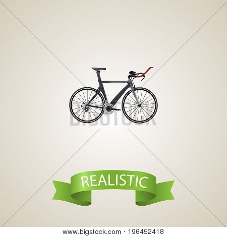Realistic Triathlon Bike Element. Vector Illustration Of Realistic Competition Bicycle Isolated On Clean Background