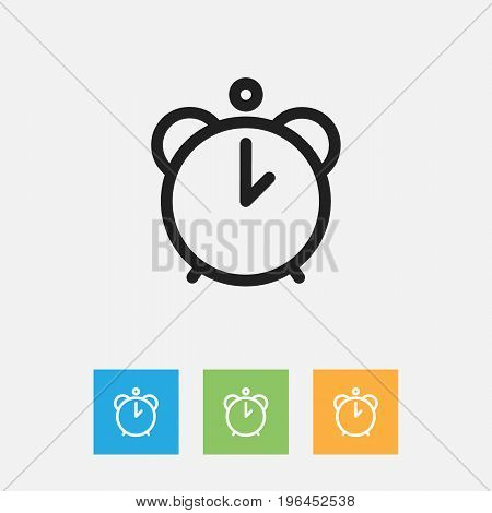 Vector Illustration Of Family Symbol On Alarm Outline