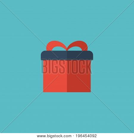 Flat Icon Gift Element. Vector Illustration Of Flat Icon Present  Isolated On Clean Background