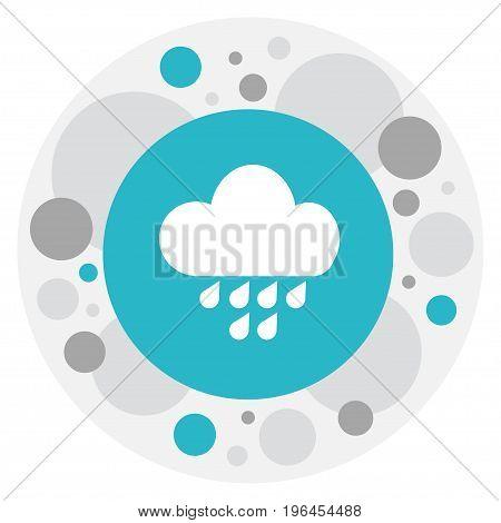Vector Illustration Of Air Symbol On Rainfall Icon