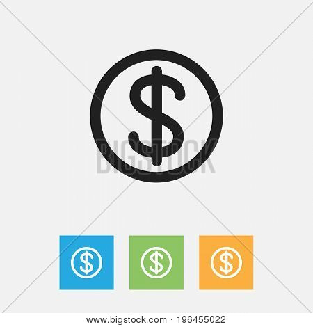Vector Illustration Of Relatives Symbol On Dollar Outline