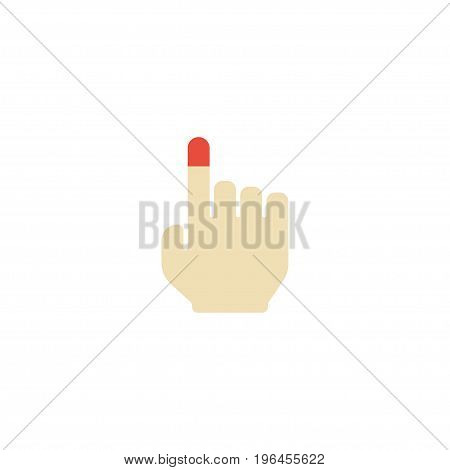 Flat Icon Touchscreen Element. Vector Illustration Of Flat Icon Strong Touch Isolated On Clean Background