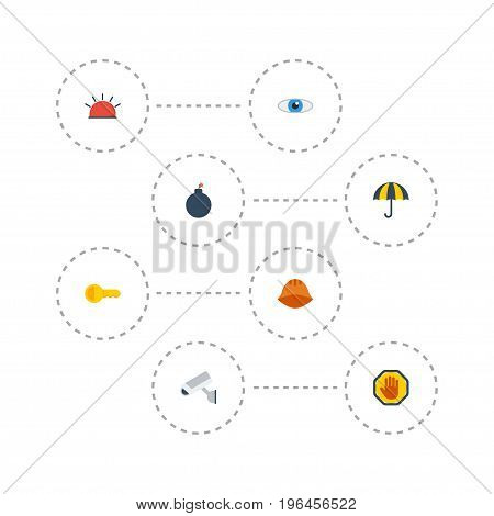 Flat Icons Clue, Forbidden, Hardhat And Other Vector Elements