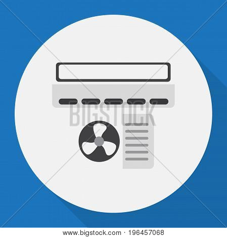 Vector Illustration Of Home Symbol On Air Conditioner Flat Icon